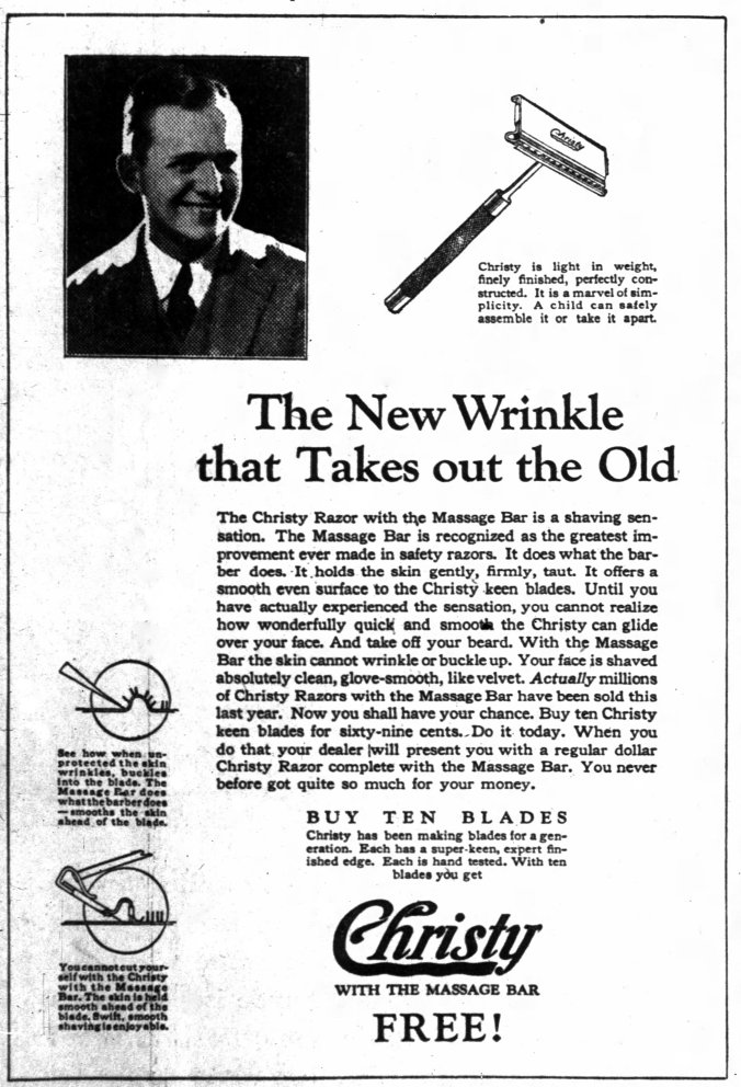 vintage_newspaper_advertising_for_the_christy_safety_razor2c_the_indianapolis_indiana_news2c_july_52c_1927_282201195349129