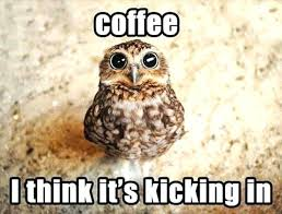 coffee kicking in