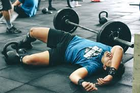 tired weightlifter