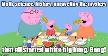 peppa pig group eating