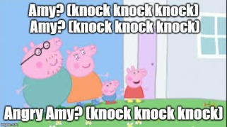 peppa pig knocking on door
