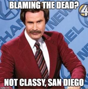 blaming dead