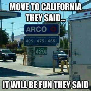 gas prices california