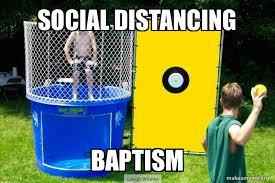 social distancing baptism